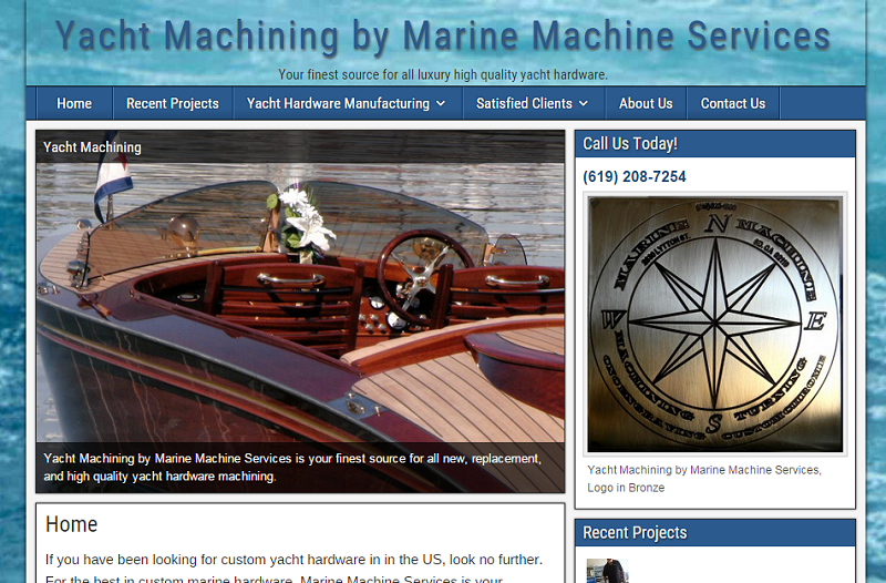 Yacht Machining by Marine Machine Services