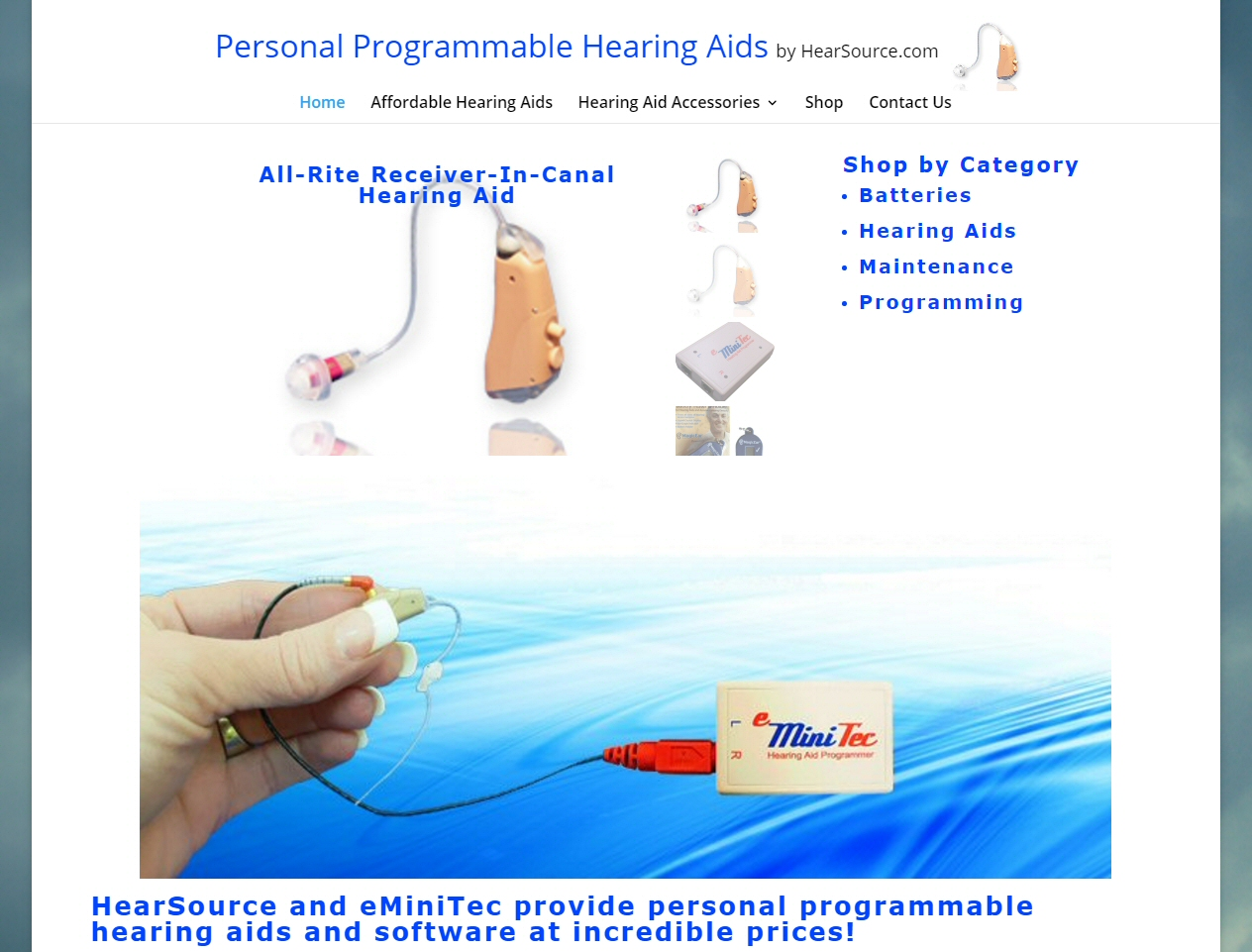 Personal Programmable Hearing Aids by HearSource